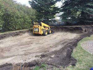 Bob cat services, landscaping and concrete