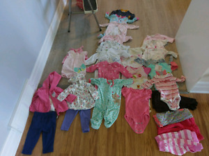 Baby Girl Clothes - 0-3 months,