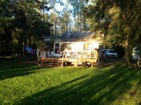 LAKE FRONT LOT AND CABIN FOR SALE