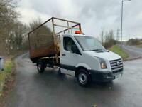 2010 Volkswagen Crafter 2.5 TDI 109PS Caged tipper spares or repair CHASSIS CAB
