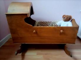 Antique Victorian rocking baby's crib, cradle, rustic, farmhouse