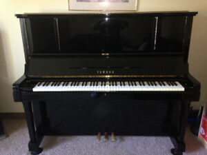 "Yamaha UX3 Upright Piano, Black Polish, 52"" Height, Full Size"