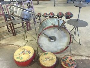 Extremely rare antique drum set, early 1920's