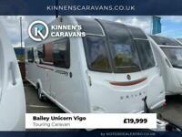 Bailey Unicon Vigo 2017 4 Berth Touring Caravan - Island Bed - Motor Mover