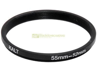Anello adattatore step down 55/52mm. x montare filtri 52mm su obiettivi diam. 55