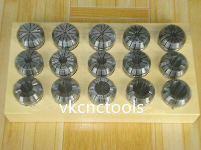 Er25 15pcs Collet Set Metric Size High Precision Spring Clamping Collet