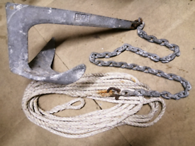 5kg Bruce style anchor, chain and rope