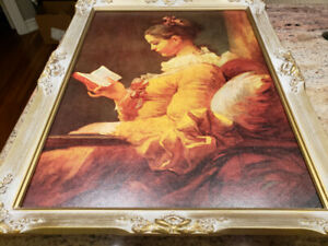 Young Girl Reading framed print.