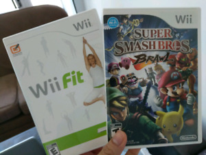 Nintendo wii w smash bros, wiifit and controller/accessories