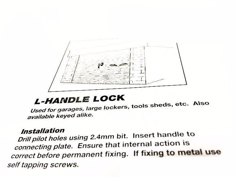Garage Door Lock Handle T Type Or L Type Handle With 2