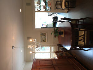 Oval Dining Table with 2 Leaves and 6 Chairs