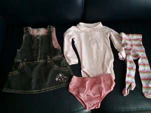 9-12 months Girls Jean Dress Outfit - Excellent Condition