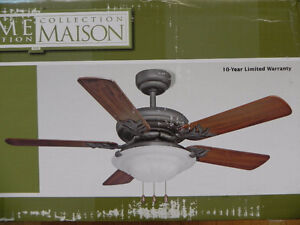 "Home Collection 42"" Ceiling Fan - Reversible Blades"