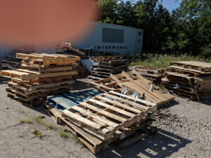 Wooden pallets free for the talking