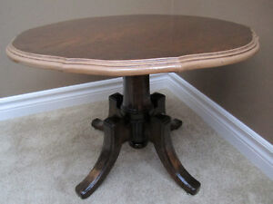 Antique Victorian Mahogany Round Pedestal Coffee Table Kitchener / Waterloo Kitchener Area image 1