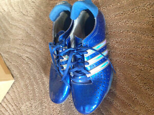 Adidas track spikes size 6.5 for men or 7.5 for women