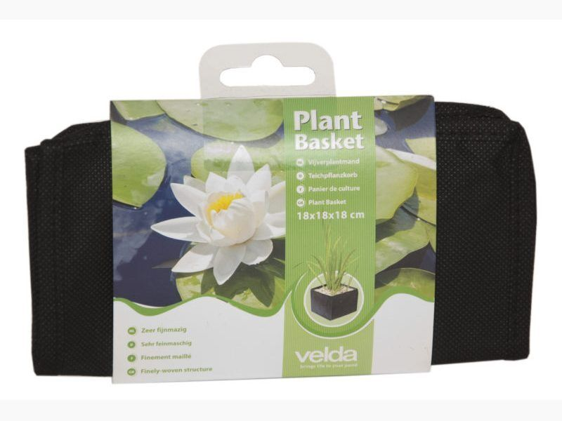 Flexible Fabric Aquatic Water Garden Pond Plant Basket Planter, 10 Inch Square