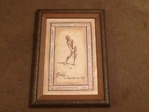"""<< Professionally Framed Print:  """"Golf ... a lesson in life"""" >>"""