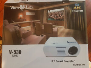 Brand new 4k 3d projector and 80 inch screen