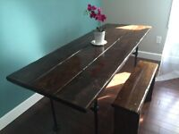 Modern Wood / Iron Dining Table