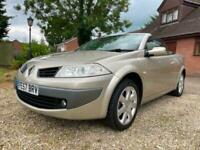 2007 Renault Megane 1.6 VVT PRIVILEDGE CONVERTIBLE COUPE ONLY 78K CONVERTIBLE P