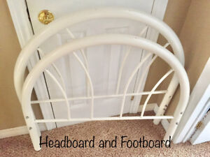 Bed frame - twin/single - white metal