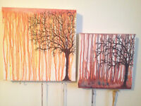 Tree water Colour paintings