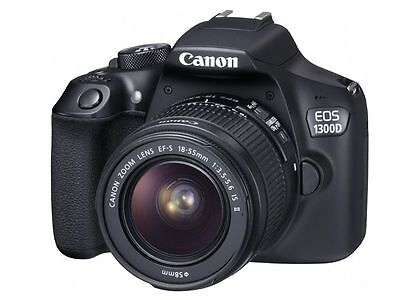 Canon Rebel T6 / 1300D DSLR Camera 18-55mm f/3.5-5.6 DC III Lens