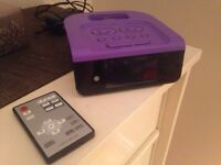 iPod dock (purple) with remote