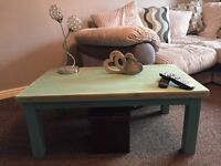 Rectangular painted table