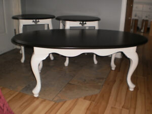 Queen Anne Coffee Table & Matching End Tables