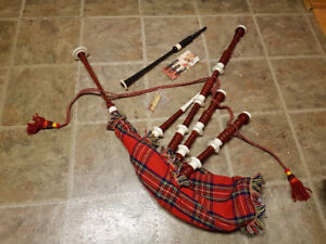 Scottish practice bagpipes bag pipes