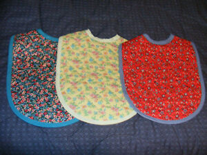 NEW HANDMADE BIBS - 4 FOR $10 - SEE PHOTOS FOR VARIETY