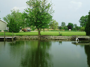 X-Wide (116ft) waterfront canal corner lot Lake St-Clair! Windsor Region Ontario image 5
