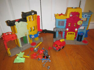 Police and Fire Station Playset