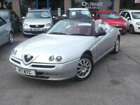 2000 W ALFA ROMEO SPIDER 2.0 T.SPARK CONVERTIBLE SILVER WITH RED LEATHER