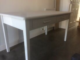 Kitchen / farmhouse table or desk - shabby chic - painted
