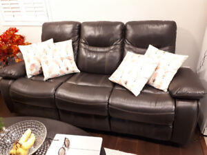 Leather Recliners  and Coffee Table