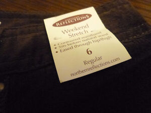 NWT Northern Reflections dark brown cords - size 6 reg