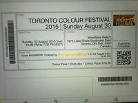 Toronto Colour Festival Ticket!!!