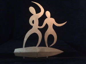 "Unique Decorative cast Iron art piece ""  Dance """