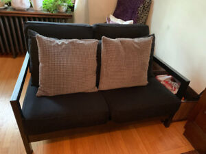 Black couch IKEA