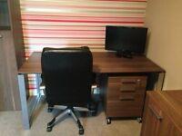 John Lewis Holborn Walnut Office Furniture