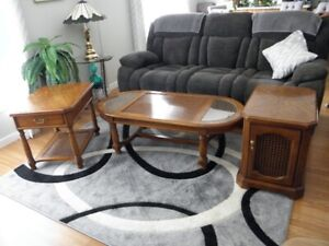 Oak Coffee and End Tables