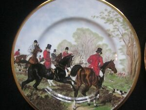 Collectable PAIR Of FINSBURY 'HERRING HUNTING SCENES' PLATES