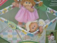 Vintage Cabbage Patch Kid fold-up playpen