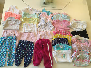 HUGE lot of baby girls clothes 0-12 months