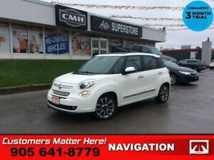 2015 Fiat 500L Lounge  NAV ROOF CAM LEATH HS BT PARK-SENS AUTOMA