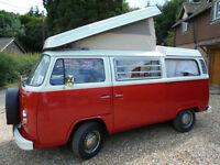 1973 4 Berth Volkswagen T2 Westfalia Pop Top Camper Van REDUCD