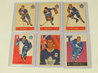 6 OLD MAPLE LEAF HOCKEY CARDS